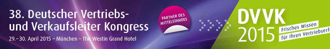 DVVK 38. Deutscher Vertriebs- und Verkaufsleiter Kongress