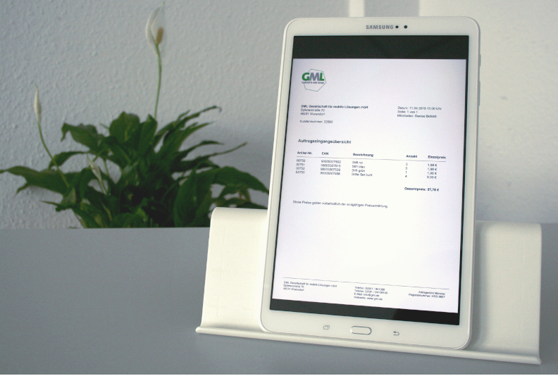 PDF-Funktion für digitale Belege im Außendienst