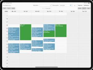 Kalenderansicht für Tourenplanung