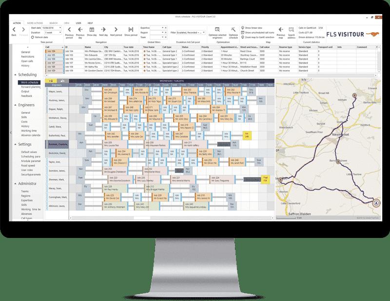 Tourenplanung und Einsatzsteuerung mit FLS VISITOUR