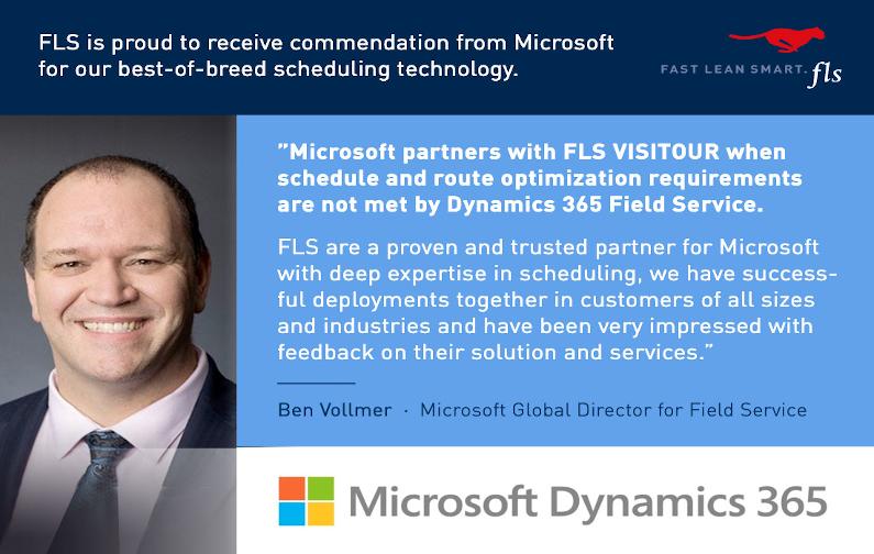 Microsoft empfiehlt FLS VISITOUR
