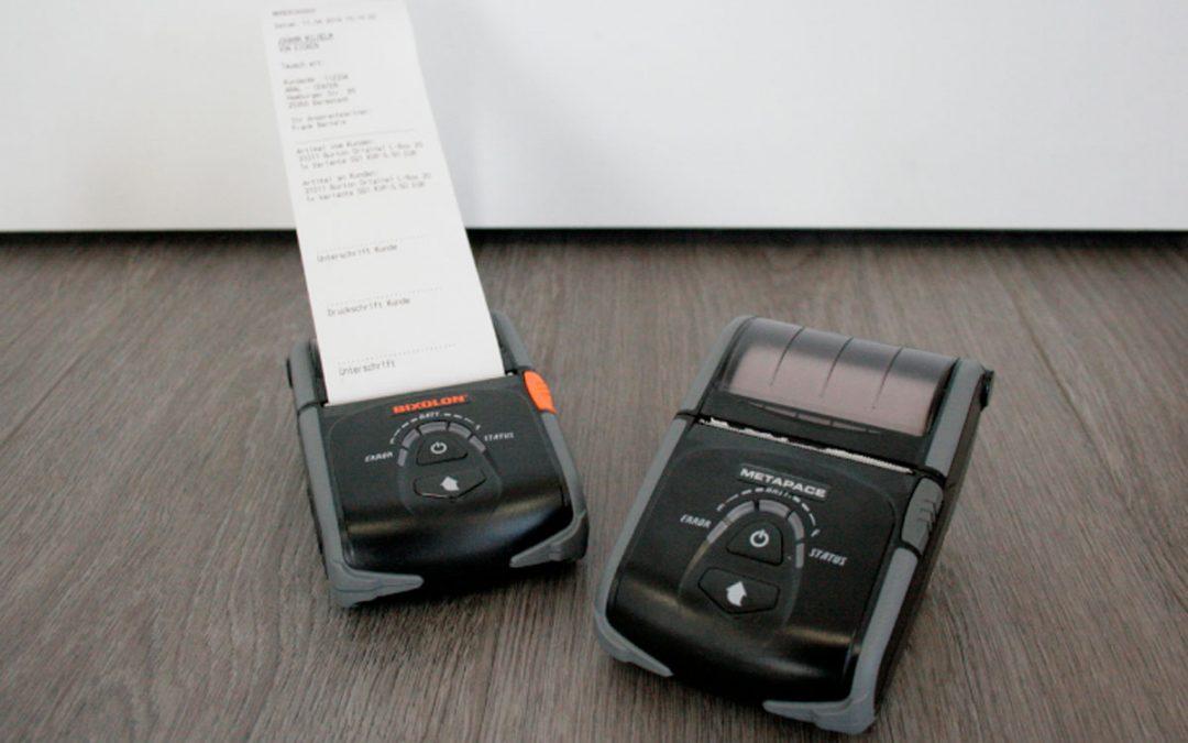 Mobile Drucker zur Effizienzsteigerung im Außendienst